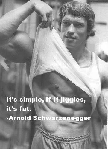 Arnoldo falando sobre gordura